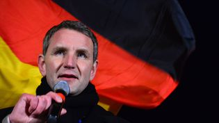 Björn Höcke, chef de file de l'AfD en Thuringe, à Erfurt (Allemagne), le 16 mars 2016. (MARTIN SCHUTT / DPA / AFP)