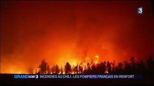 Le Chili en proie à des incendies gigantesques (France 3)