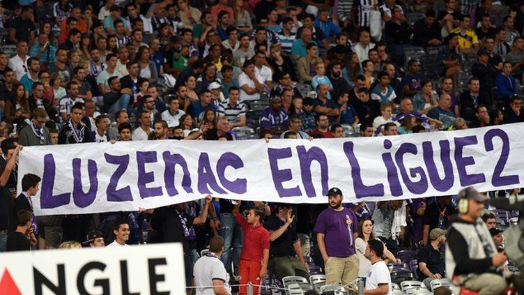 (Depuis le début de ce feuilleton, les supporters de Luzenac soutiennent leur club © MAXPPP)