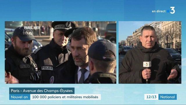 Réveillon : les Champs-Élysées sous haute surveillance