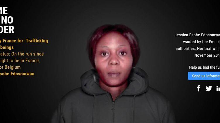 Fiche de Jessica Edosomwane rercherchée en France, sur le site d'Europol, octobre 2019. (EUROPOL)