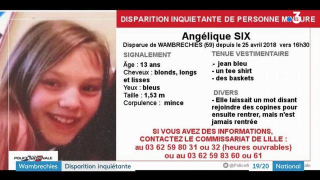 Nord : disparition inquiétante d'une adolescente de 13 ans