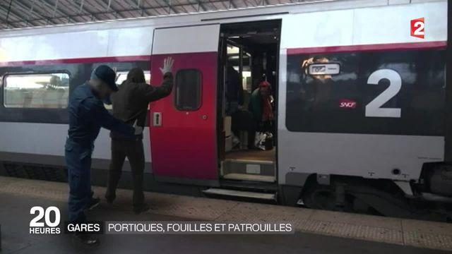Après les attentats, plus de sécurité dans les gares
