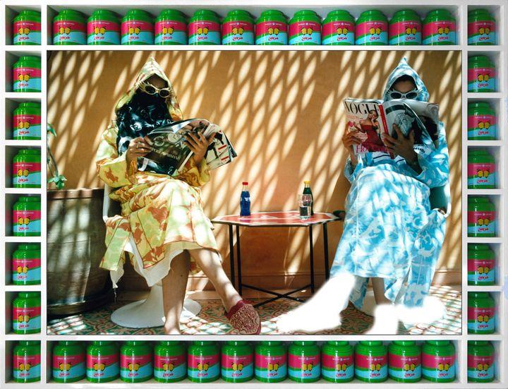 "Hassan Hajjaj, ""Time Out"", de la série ""Vogue: TheArab Issue"" (© Hassan Hajjaj, 2007/1428)"