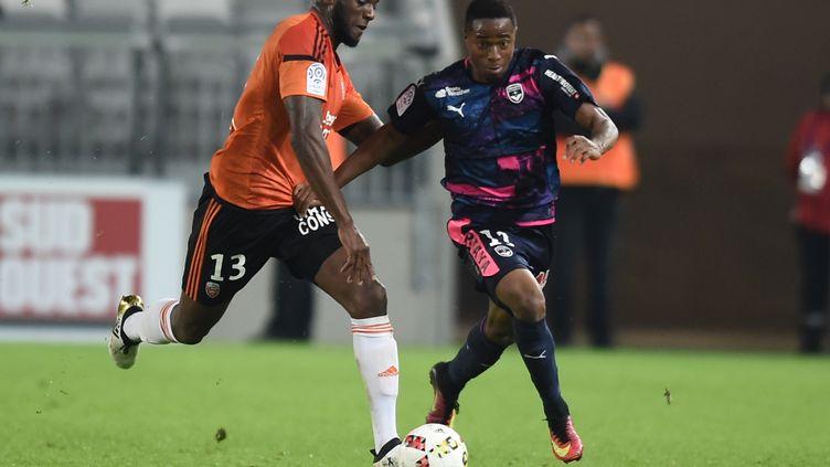 Début novembre, François Kamano avait fait beaucoup de mal au FC Lorient (2-1). (NICOLAS TUCAT / AFP)