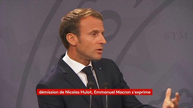 VIDEO. Après la démission de Nicolas Hulot, Emmanuel Macron défend le bilan de l'exécutif en matière d'écologie