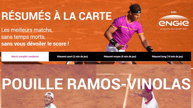 Les Résumés à la carte : une offre inédite pour Roland-Garros 2017