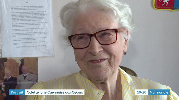 ColetteMarin-Catherine, chez elle en avril 2021 (France 3 Normandie)