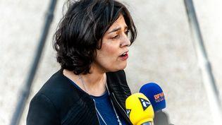 La ministre du Travail,Myriam El Khomri, devant l'Elysée, le 2 mars 2016. (CITIZENSIDE / YANN KORBI / AFP)