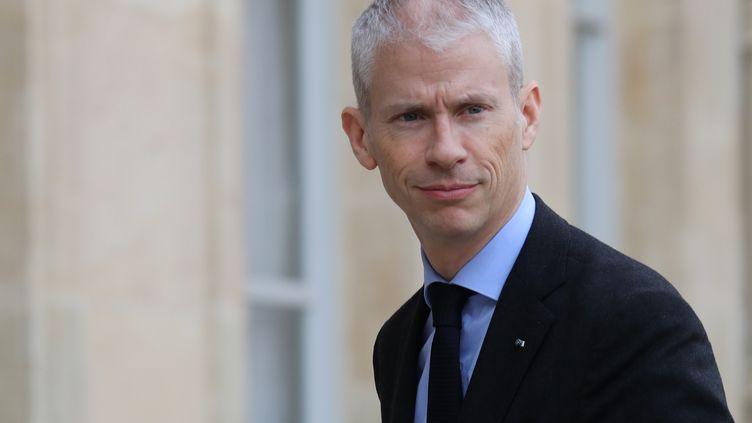 Le ministre de la culture Franck Riester, le 9 mars 2020 au Palais de l'Elysée (LUDOVIC MARIN / AFP)