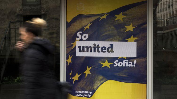 La Bulgarie prend pour la première fois les rênes de l'Union européenne (VASSIL DONEV / MAXPPP)