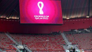 Lenouveau stade al-Bayt du Qatar, dans la capitale Doha, qui accueillera des matchs du Mondial 2022. (GIUSEPPE CACACE / AFP)