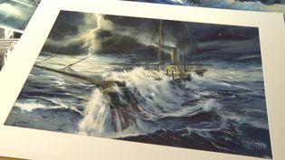 Emmanuel Lepage devient Peintre Officiel de la Marine. (CAPTURE D'ÉCRAN FRANCE 3 / T. Bouilly)