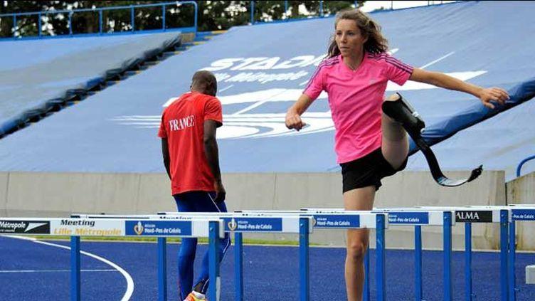 La sprinteuse tricolore Amélie Le Fur