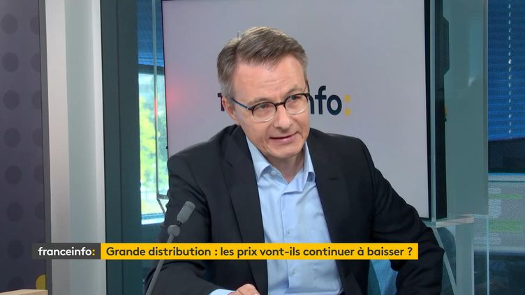 Dominique Schelcher, PDG de Système U, invité de franceinfo, mardi 22 septembre. (FRANCEINFO / RADIO FRANCE)