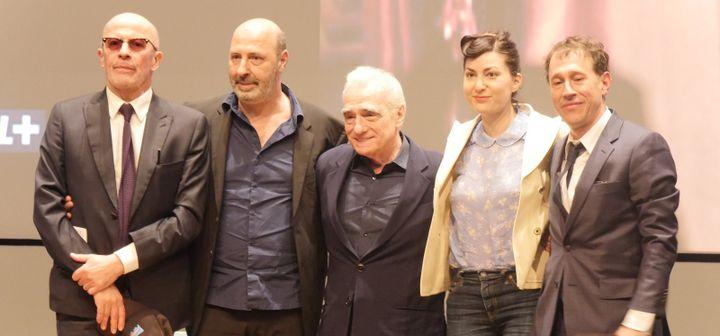 Jacques Audiard, Cédric Klapisch, Martin Scorsese, Rebecca Zlotowski et Bertrand Bonnello.  (Lorenzo Ciavarini Azzi/Culturebox)