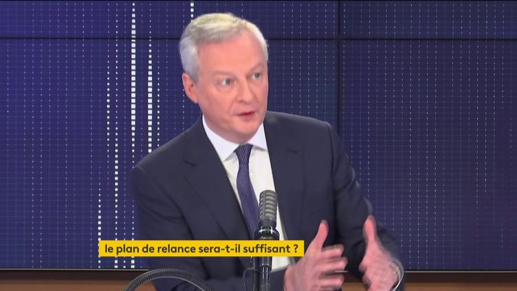 Bruno Le Maire, le 29 mars 2021. (FRANCEINFO / RADIO FRANCE)