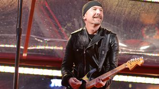 The Edge, le guitariste de U2 (ici en décembre 2014 à New York).  (Slaven Vlasic / Getty Images North America / AFP)