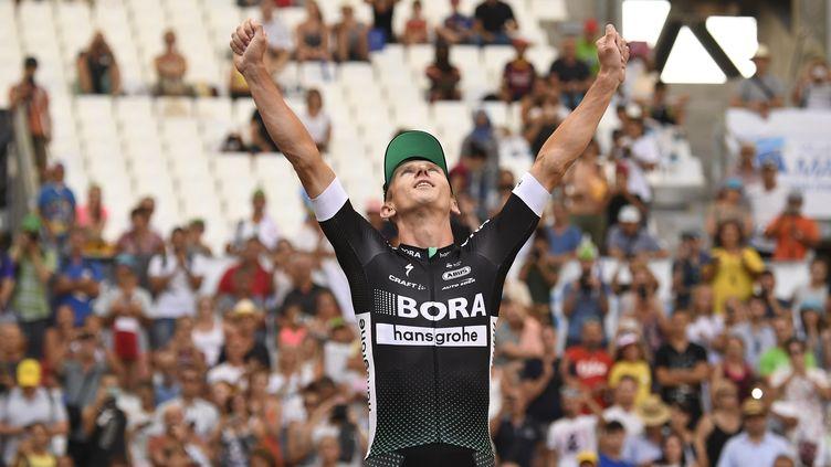 Le rouleur polonais Maciej Bodnar (Bora-Hansgrohe). (LIONEL BONAVENTURE / AFP)