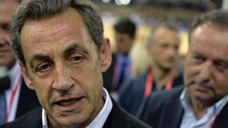 Nicolas Sarkozy à Saint-Quentin-en-Yvelines (Yvelines), le 22 février 2015. (LOIC VENANCE / AFP)