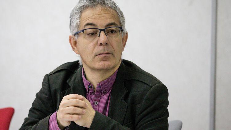 Luc Farré,secrétaire général de l'UNSA Fonctionnaires, en mai 2018. (AURELIEN MORISSARD / MAXPPP)