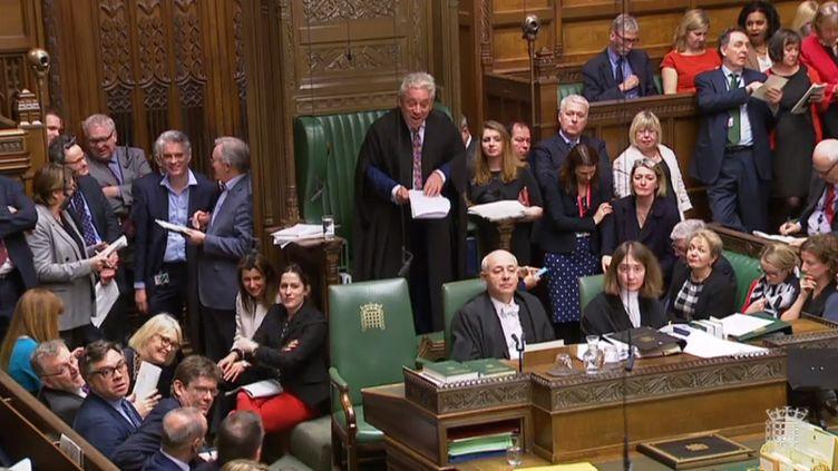 Les députés britanniques ont voté contre tous les scénarios du Brexit qu'ils ont proposé, le 27 mars 2019, à la chambre des Communes. (HO / AFP)