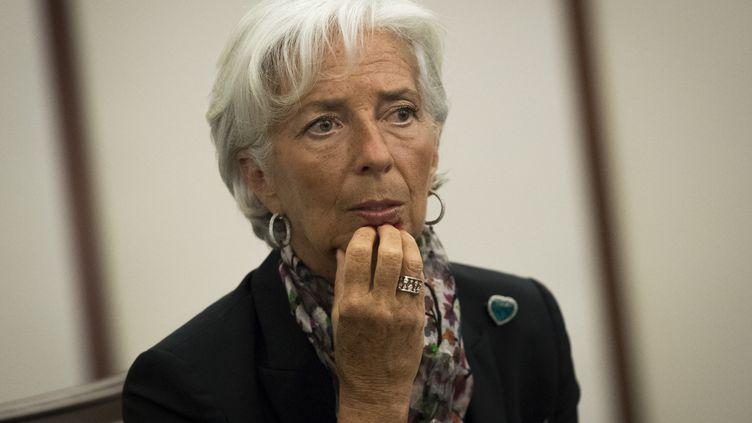 La directrice du Fonds monétaire international, Christine Lagarde, le 18 juillet 2016 à New York (Etats-Unis). (DREW ANGERER / GETTY IMAGES NORTH AMERICA / AFP)