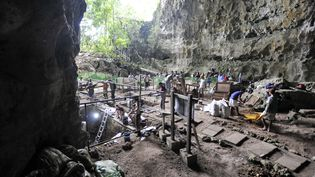 La grotte de Callao (Philippines) où ont été retrouvés les restes fossiles d'Homo luzonensis, ici le 9 août 2011. (FLORENT DETROIT / FLORENT DETROIT )