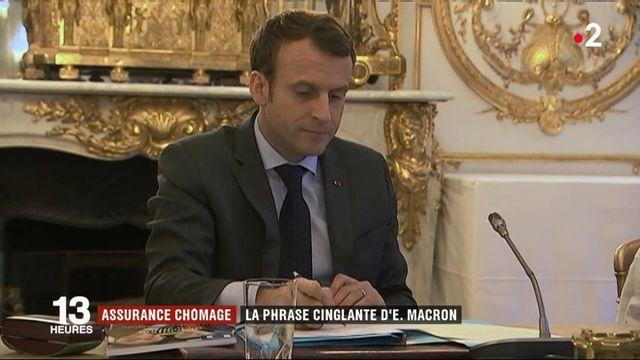 Assurance chômage : la phrase cinglante d'Emmanuel Macron