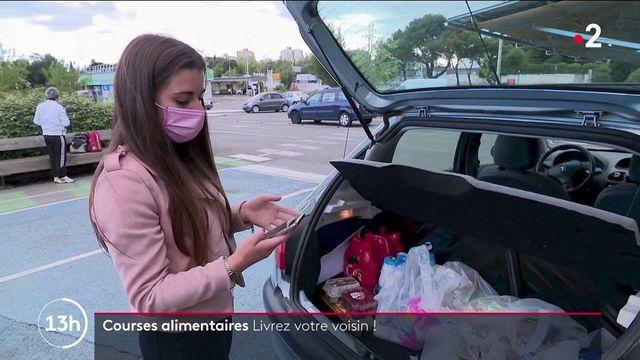 Solidarité : les livraisons de courses entre particuliers ont du succès