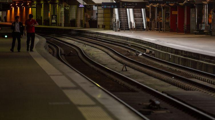 La gare Montparnasse à Paris, le 23 avril 2018 (CHRISTOPHE SIMON / AFP)