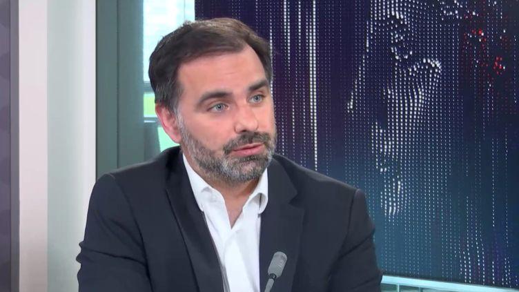 Laurent Saint-Martin, tête de liste LREM aux élections régionales en Île-de-France, était l'invité de franceinfo le 25 juin 2021. (FRANCEINFO / RADIOFRANCE)
