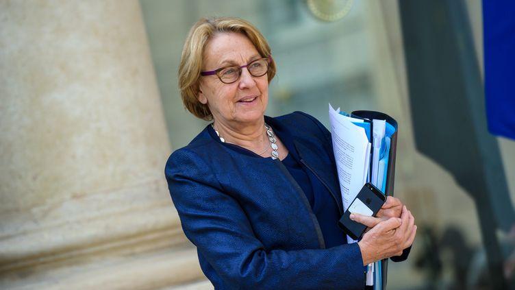 La ministre de la Fonction publique, Marylise Lebranchu, quitte le palais de l'Elysée, le 23 avril 2014. (MAXPPP)