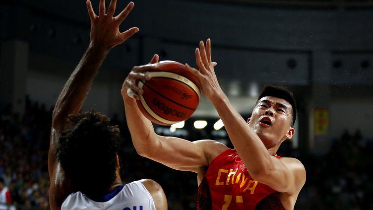Li Muhao avec la Chine lors du Championnat d'Asie 2015. (ZHANG CHEN / XINHUA)