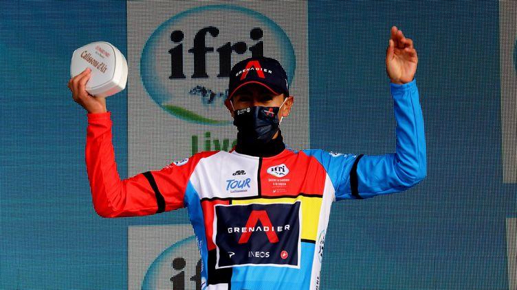 Ivan Sosa avec son maillot distinctif de vainqueur du Tour de la Provence. (HIELY CYRIL / MAXPPP)