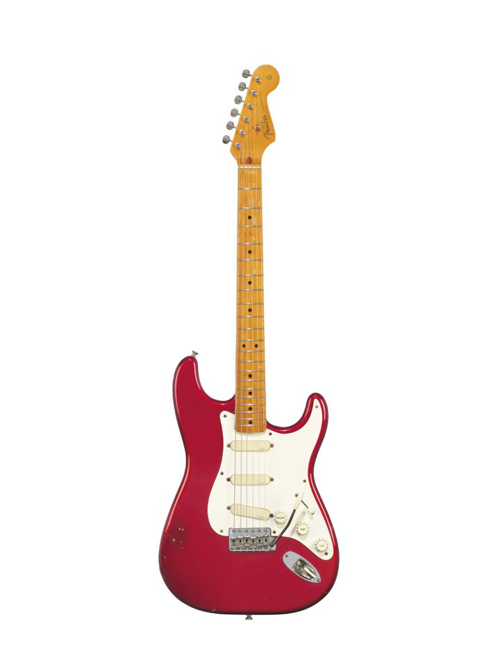 FENDER ELECTRIC INSTRUMENT COMPANY, FULLERTON, 1984 A SOLID-BODY ELECTRIC GUITAR, STRATOCASTER, 57V (CHRISTIE'S - THE DAVID GILMOUR GUITAR COLLECTION)