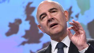 Pierre Moscovici, commissaire européen, le 9 novembre 2017. (EMMANUEL DUNAND / AFP)