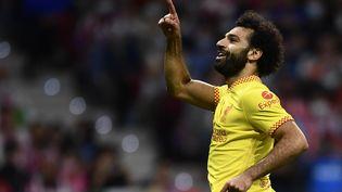 Mohamed Salah a signé un doublé face à l'Atlético de Madrid, le 19 octobre. (JOSE BRETON / NURPHOTO)