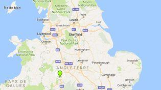 Capture d'écran d'un carte de la Grande-Bretagne, le 22 juillet 2018. (GOOGLE MAPS / FRANCEINFO)