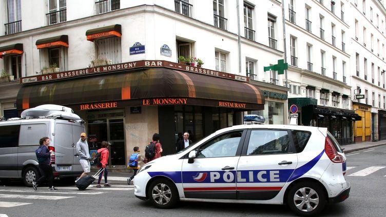 Le dimanche 13 mai 2018, au lendemain de l'attaque au couteau à Paris IIème. (MAXPPP)