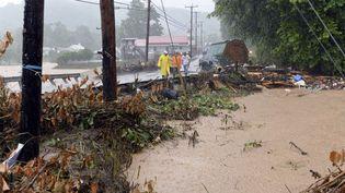 Inondations dans le comté de Clendenin (Virginie Occidentale, Etats-Unis) le 23 juin 2016 (CHRIS DORST / AP / SIPA)