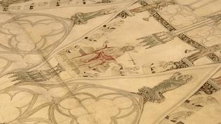 L'un des plans de la cathédrale datant de 1360.  (France 3 Alsace)