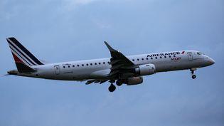 Un avion d'Air France, à l'aéroport Roissy-Charles de Gaulle, le 3 juin 2021. (GEOFFROY VAN DER HASSELT / AFP)