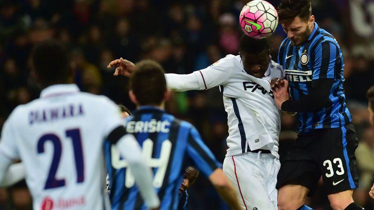 Entre la Roma et l'Inter, le match a été intense et surtout égal. (GIUSEPPE CACACE / AFP)