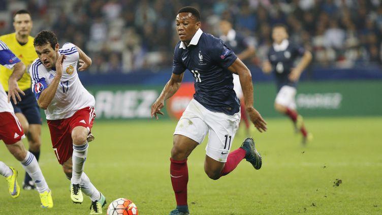 Anthony Martial, l'attaquant de l'équipe de France, face à l'Arménie. (PHILIPPE LAURENSON / BLUEPIX)
