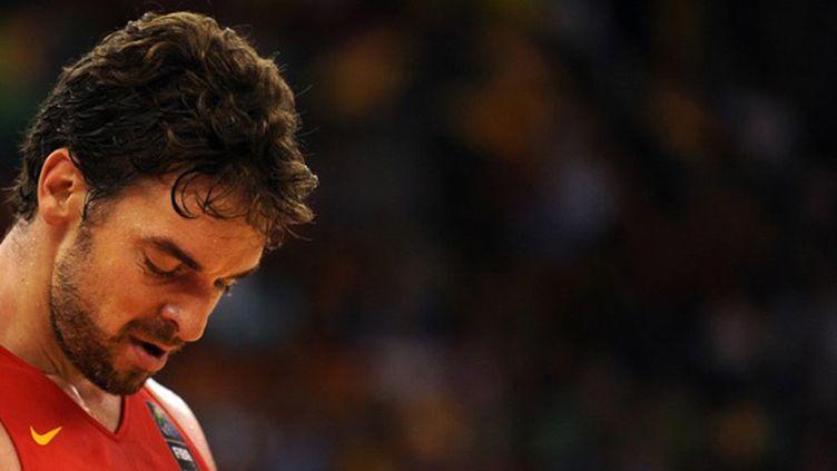 Les Bleus vont devoir contenir Pau Gasol, meilleur joueur de cette Coupe du monde 2014 (JORGE GUERRERO / AFP)