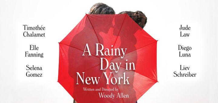 """L'affiche du nouveau film de Woody Allen, """"Un jour de pluie à New York"""". (Amazon Studios)"""