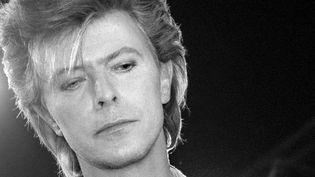 David Bowie le 20 mars 1987 à Paris, à la Locomotive, d'où il a annoncé une tournée mondiale.  (Bertrand Guay / AFP)