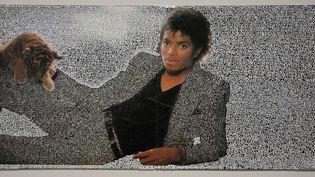 """Michael Jackson par Graham Hill exposé au Grand Palais dans l'exposition """"On The Wall"""".  (Ginies/SIPA)"""