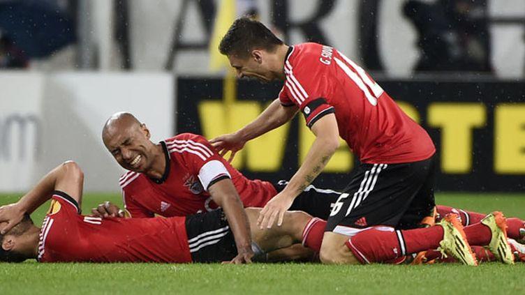 La joie des joueurs de Benfica après leur qualification en finale de l'Europa League 2014